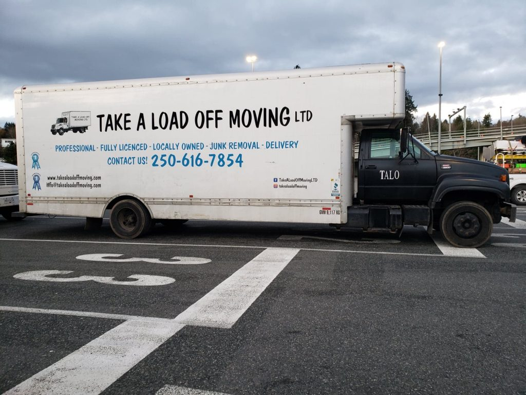Take a load off moving truck